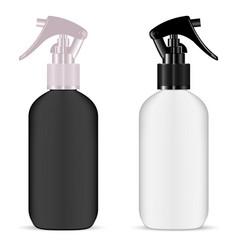 Plastic spray bottle set plastic pistol trigger vector