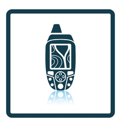 Portable gps device icon vector