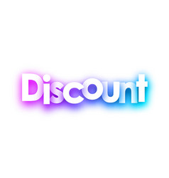 purple discount paper sign on white background vector image