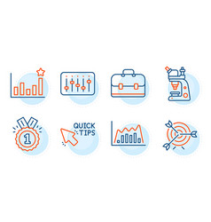 quick tips dj controller and efficacy icons set vector image