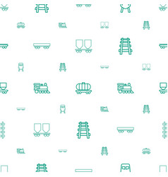 rail icons pattern seamless white background vector image