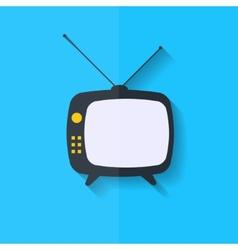 Retro tv icon Flat design vector