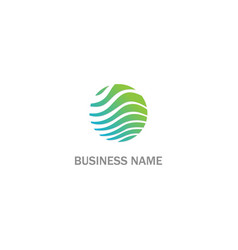 round wave eco abstract business logo vector image