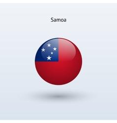 Samoa round flag vector