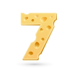 Seven cheese number vector image