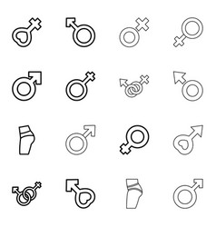 sexual icons vector image