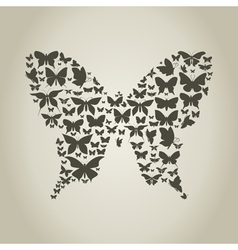Silhouette the butterfly vector image