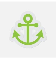Simple green icon - anchor vector