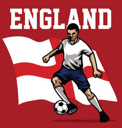 soccer player of england vector image