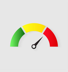 Speedometer icon or sign with arrow vector