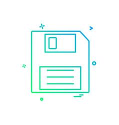 storage icon design vector image