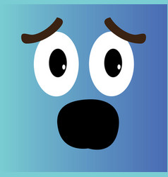 Surprised cartoon face vector