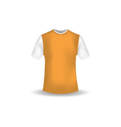 t shirt mockup design template vector image