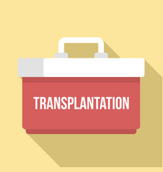 transplantation box icon flat style vector image