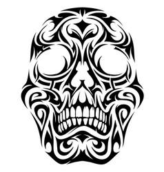 tribal tattoo skull vector image