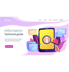 User guide concept vector