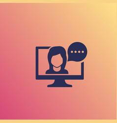 Webinar online tutor icon vector