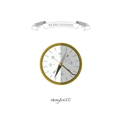 Compass in a flat style Retro aviation vector image vector image