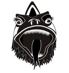 Head of the dragon vector image vector image