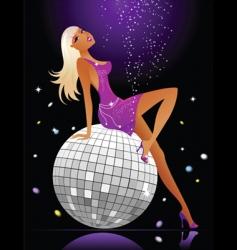 sexy female dancer vector image