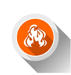 fire flames button vector image