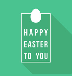 happy easter greeting card quote design vector image