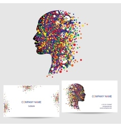 Icon design element business card template vector