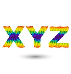 triangular letters xyz vector image