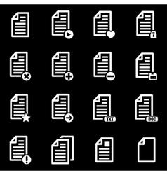 white documents icon set vector image