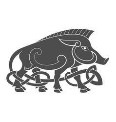 ancient celtic mythological symbol of boar vector image vector image
