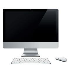 abstract desktop computer vector image vector image