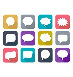 Colorful flat speech bubbles vector image vector image