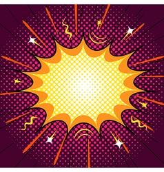 Comic speech bubble word blast action vector image vector image