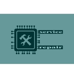 CPU Microprocessor Icon vector image
