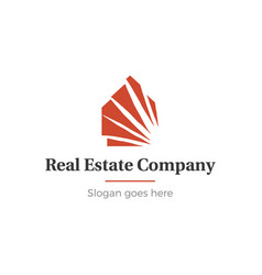 home and real estate logo vector image vector image
