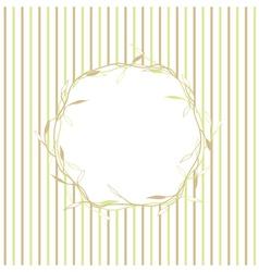 Leaf Natural Round Frame vector image