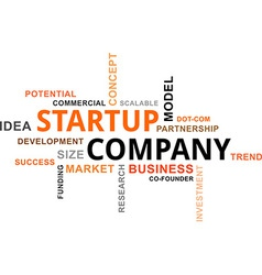 word cloud startup company vector image