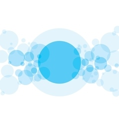 Abstract Background with Blue Transparent Circles vector