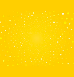 abstract yellow circle dots background vector image