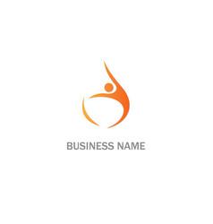active people swoosh sport logo vector image