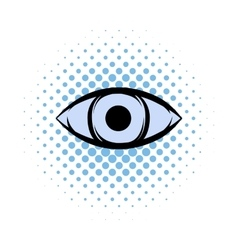 All-seeing eye comics icon vector