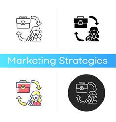B2c marketing icon vector