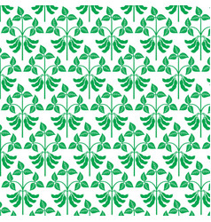 Background pattern with soybean plant vector