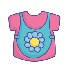 bashower blue and pink clothes girl icon vector image
