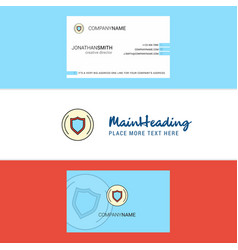 Beautiful protected sheild logo and business card vector