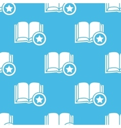 Blue favorite book pattern vector