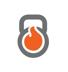 Burn kettlebell gym logo vector