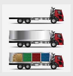 cargo trucks transportation isolated vector image