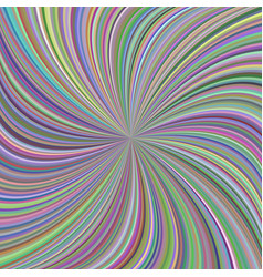 Colorful swirl background from curved spiral rays vector
