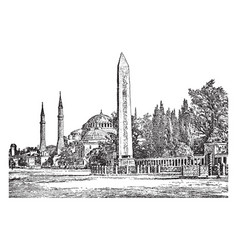 Constantinople the capital city of the roman vector